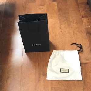 Gucci dust bag and shopping bag. New